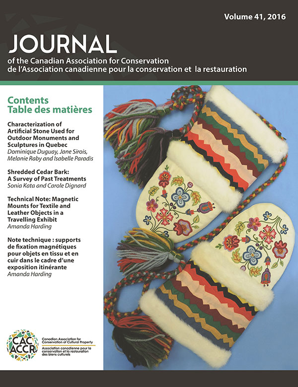 Recent Journal of the Canadian Association for Conservation