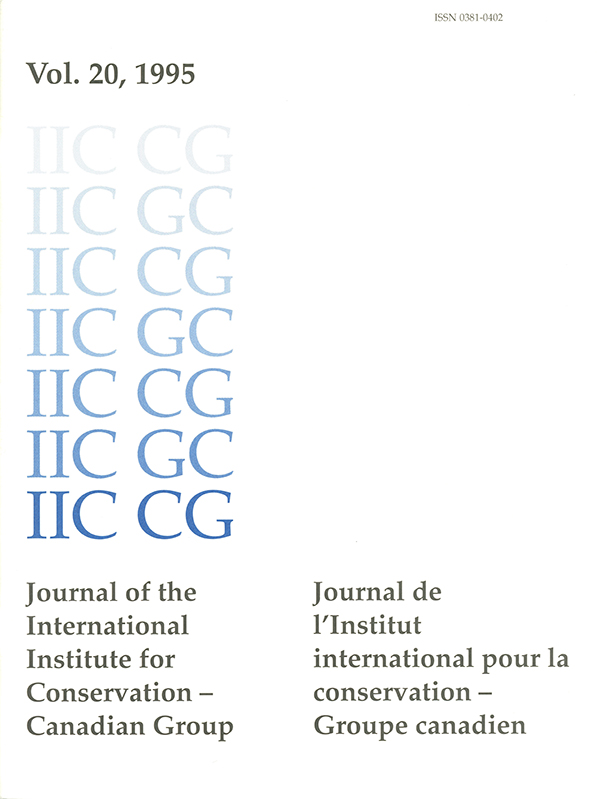 Journal of the International Institute for Conservation - Canadian Group